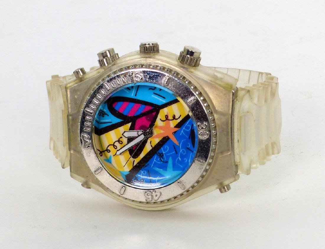 ROMERO BRITTO QUARTZ WATCH w SILICONE BAND