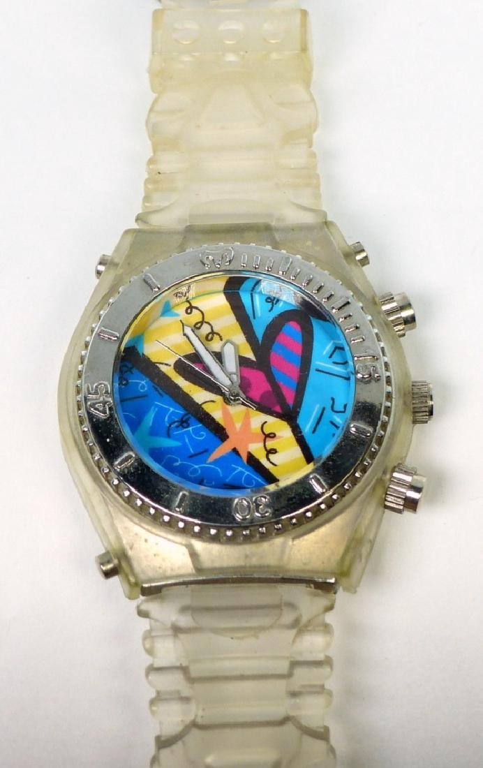 ROMERO BRITTO QUARTZ WATCH w SILICONE BAND - 4