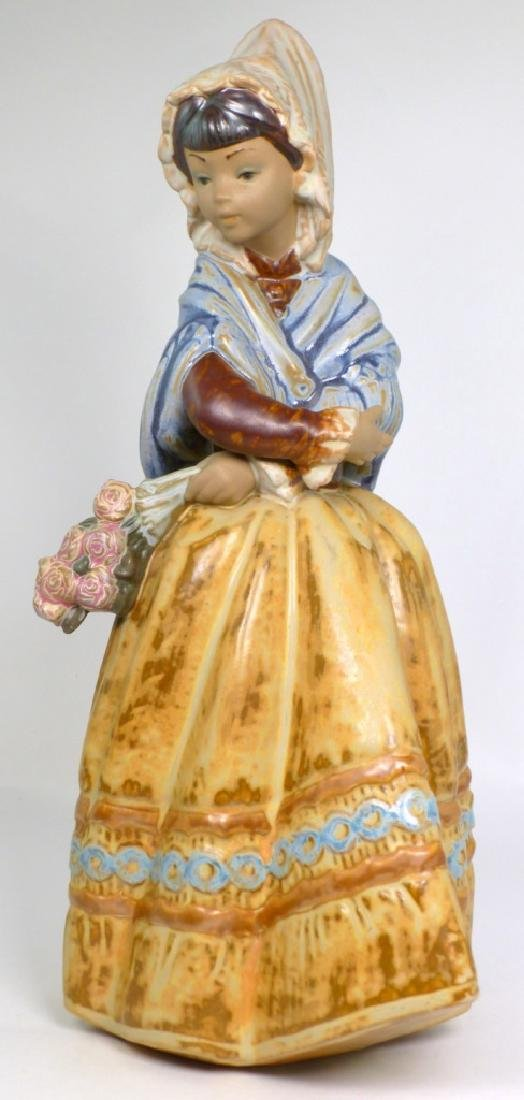 LLADRO 'COUNTRY GIRL' GRES PORCELAIN FIGURINE - 6