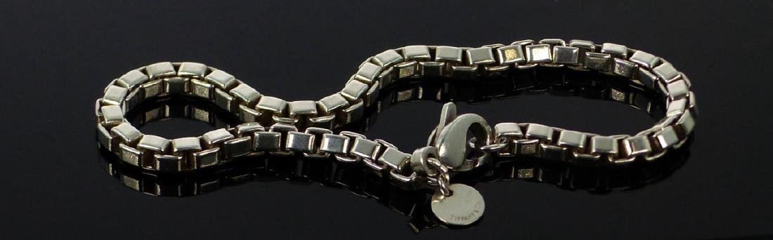2pc TIFFANY & CO STERLING BOX LINK CHAIN/BRACELET - 3