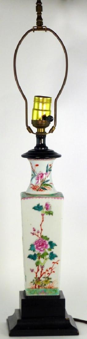 PR CHINESE FAMILLE ROSE PORCELAIN VASES / LAMPS - 4