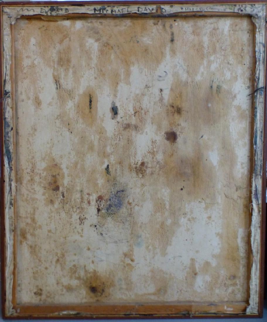 MICHAEL DAVID 'MARSYUS' ENCAUSTIC ON CANVAS - 10