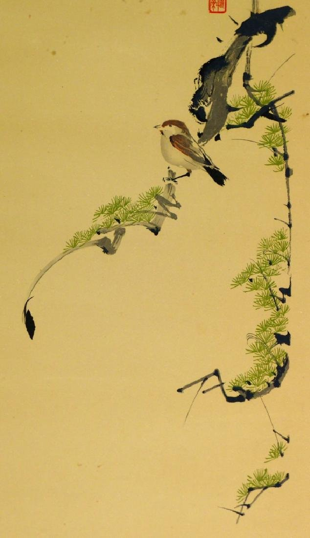 CHINESE PAINTING ON PAPER OF BIRD SIGNED - 4