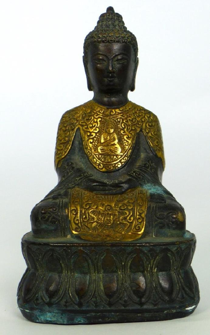 TIBETAN CAST METAL BUDDHA FIGURE