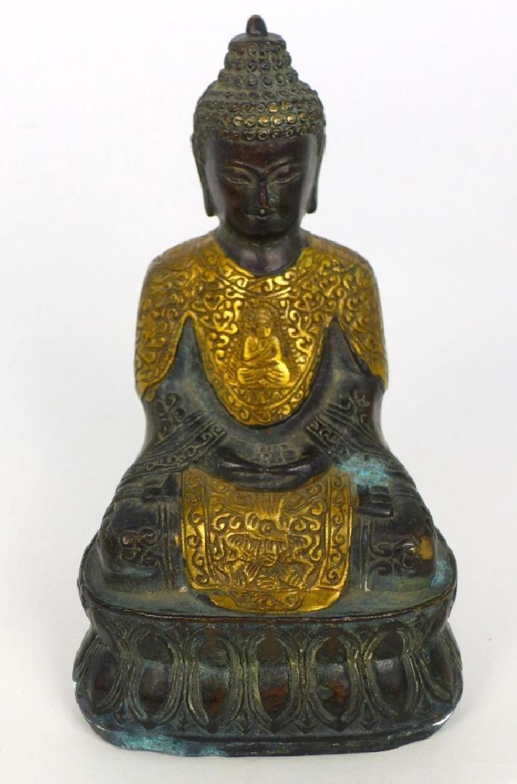 TIBETAN CAST METAL BUDDHA FIGURE - 2