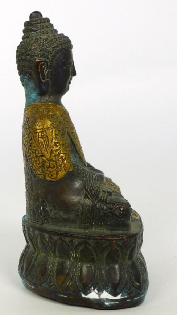 TIBETAN CAST METAL BUDDHA FIGURE - 3