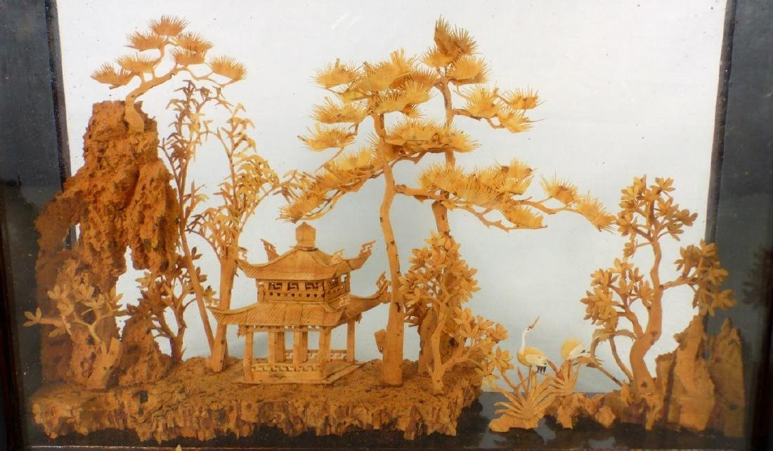 CHINESE CARVED CORK SCULPTURE - 3
