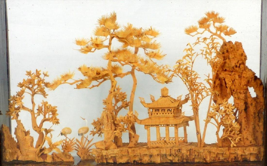 CHINESE CARVED CORK SCULPTURE - 5
