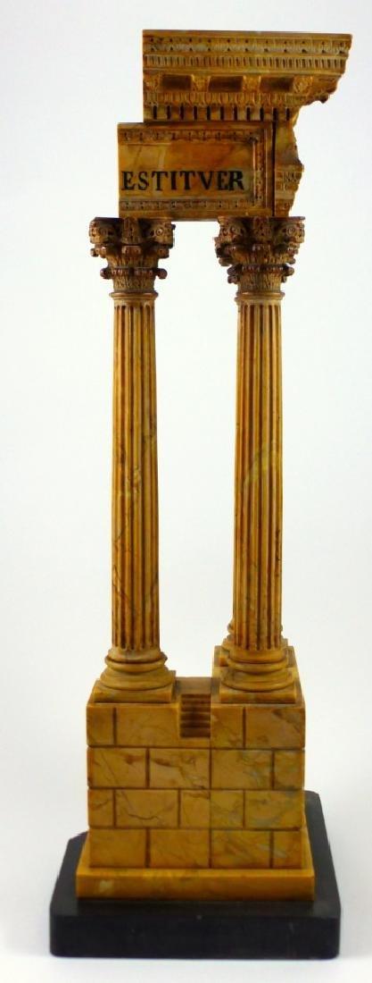 TEMPLE OF VESPASIAN RUINS SIENA MARBLE SCULPTURE