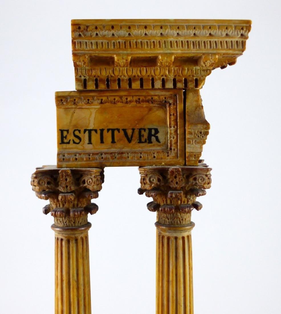 TEMPLE OF VESPASIAN RUINS SIENA MARBLE SCULPTURE - 2