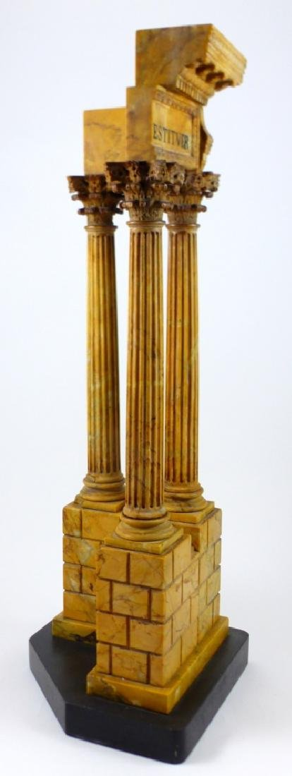 TEMPLE OF VESPASIAN RUINS SIENA MARBLE SCULPTURE - 5