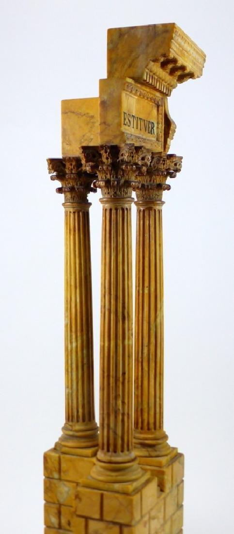 TEMPLE OF VESPASIAN RUINS SIENA MARBLE SCULPTURE - 6