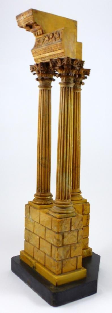 TEMPLE OF VESPASIAN RUINS SIENA MARBLE SCULPTURE - 8