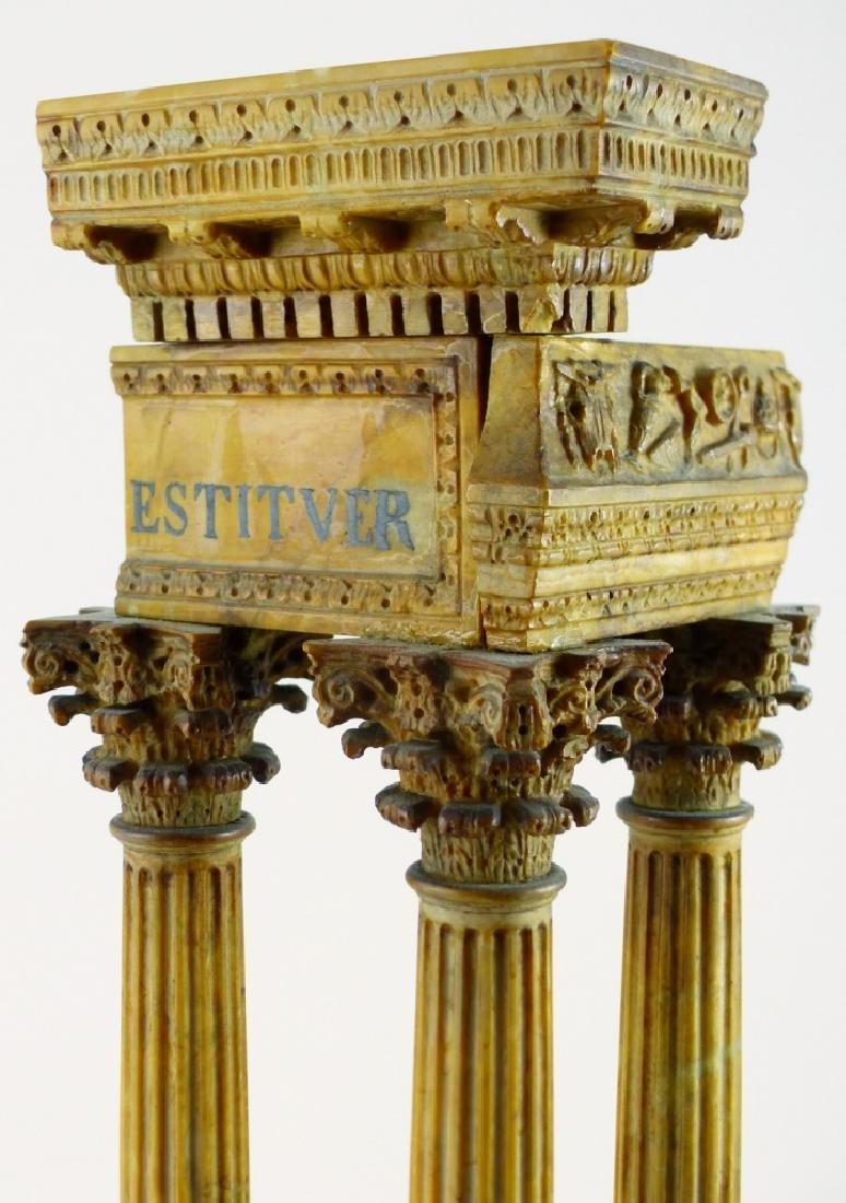 TEMPLE OF VESPASIAN RUINS SIENA MARBLE SCULPTURE - 9