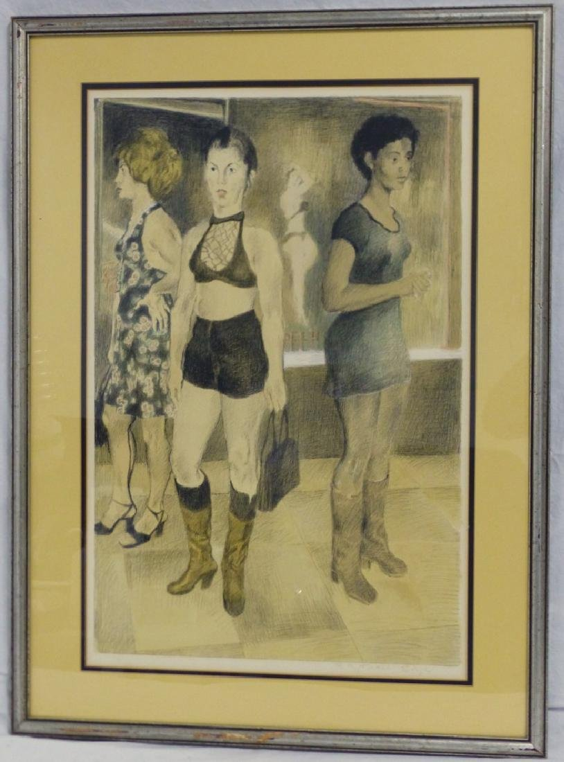 RAPHAEL SOYER 'EIGHTH AVENUE' COLOR LITHOGRAPH