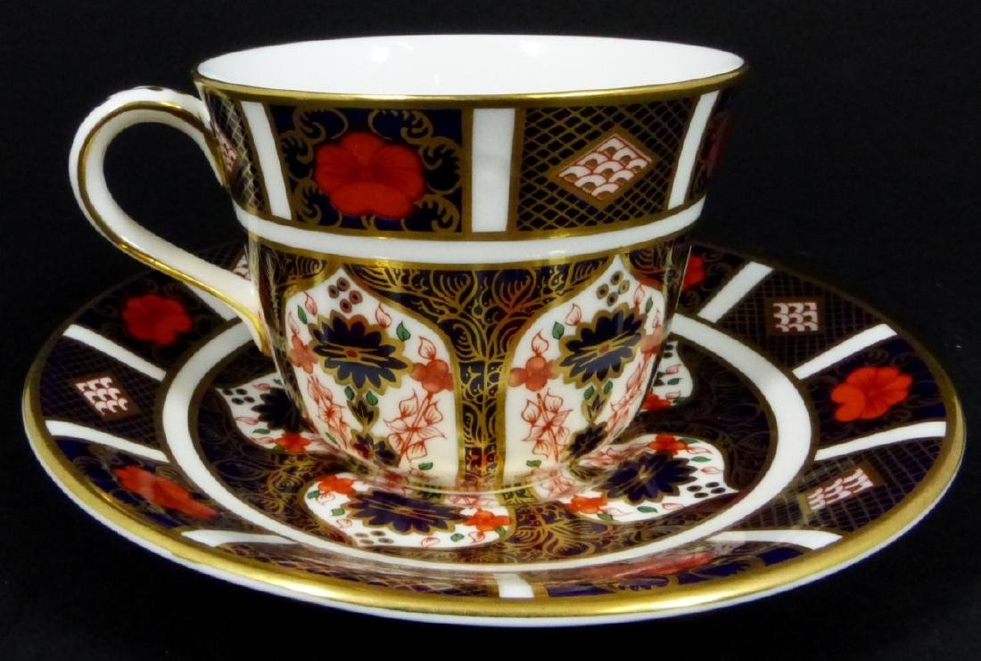 2pc ROYAL CROWN DERBY 'OLD IMARI' TEACUP & SAUCER