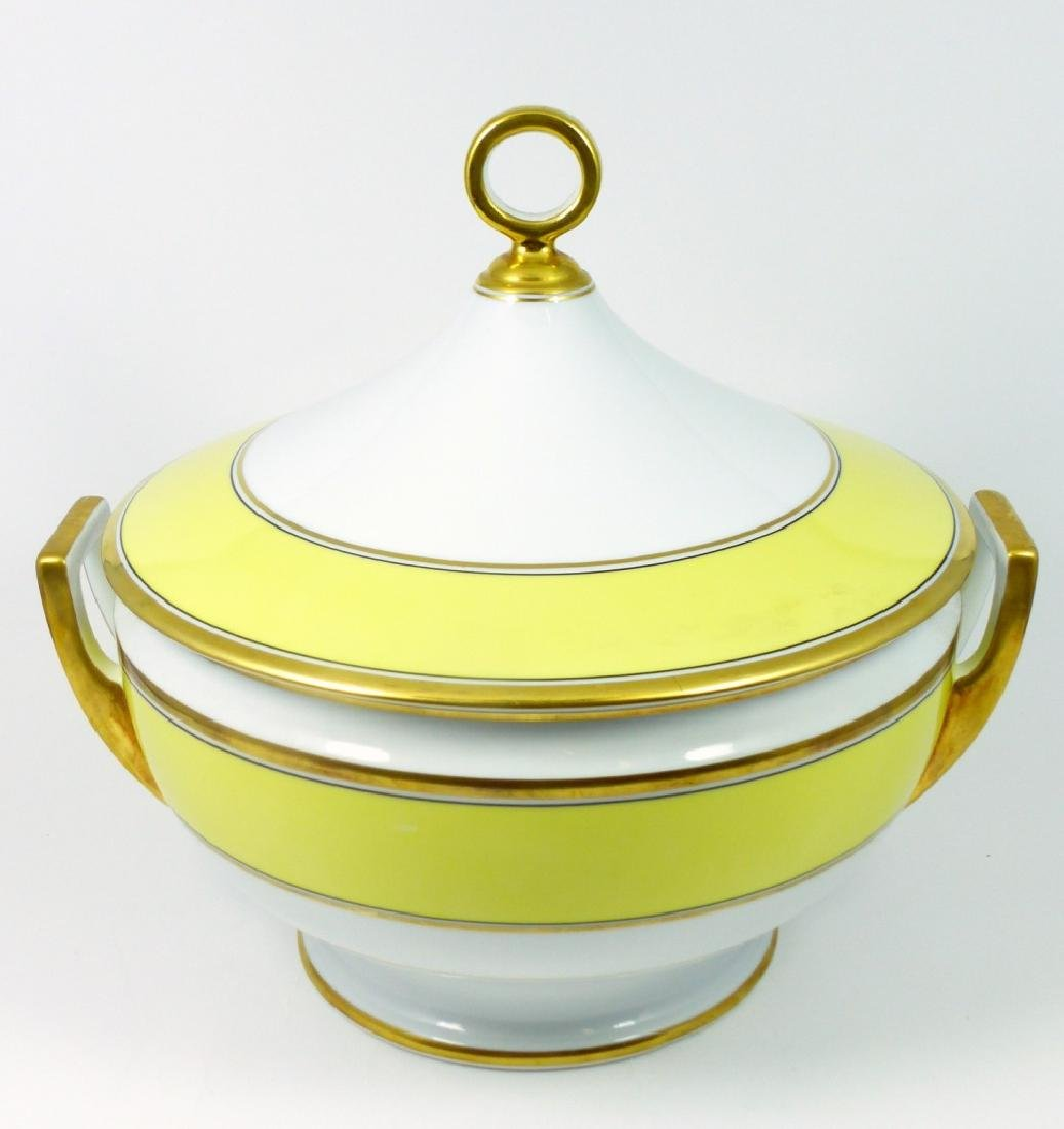 RICHARD GINORI IMPERO YELLOW PORCELAIN TUREEN