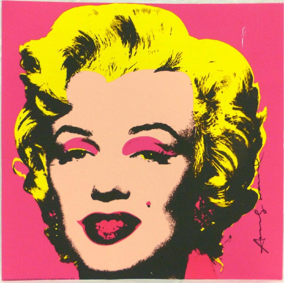 ANDY WARHOL MARILYN OFFSET LITHOGRAPH SIGNED