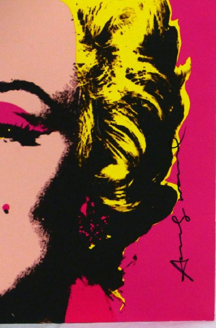 ANDY WARHOL MARILYN OFFSET LITHOGRAPH SIGNED - 2