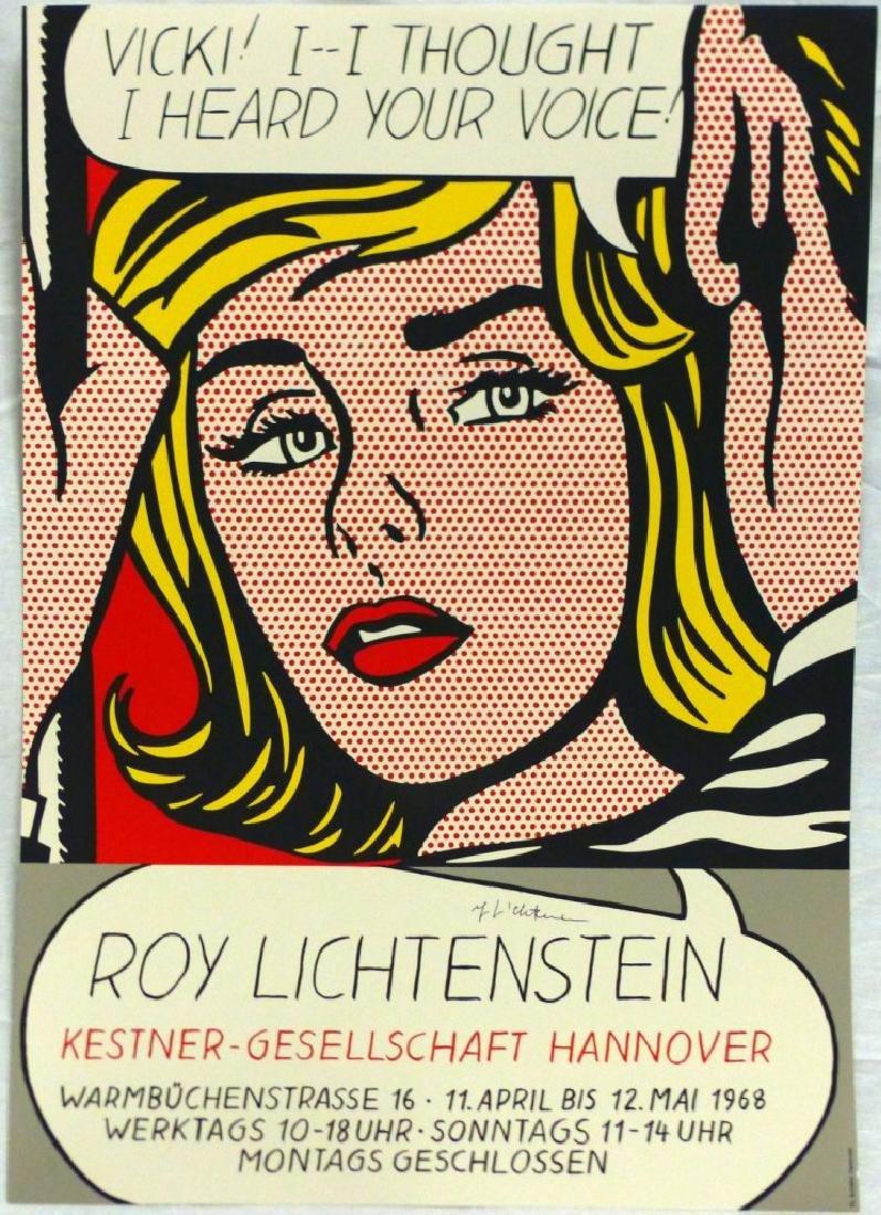 ROY LICHTENSTEIN EXHIBITION POSTER SIGNED