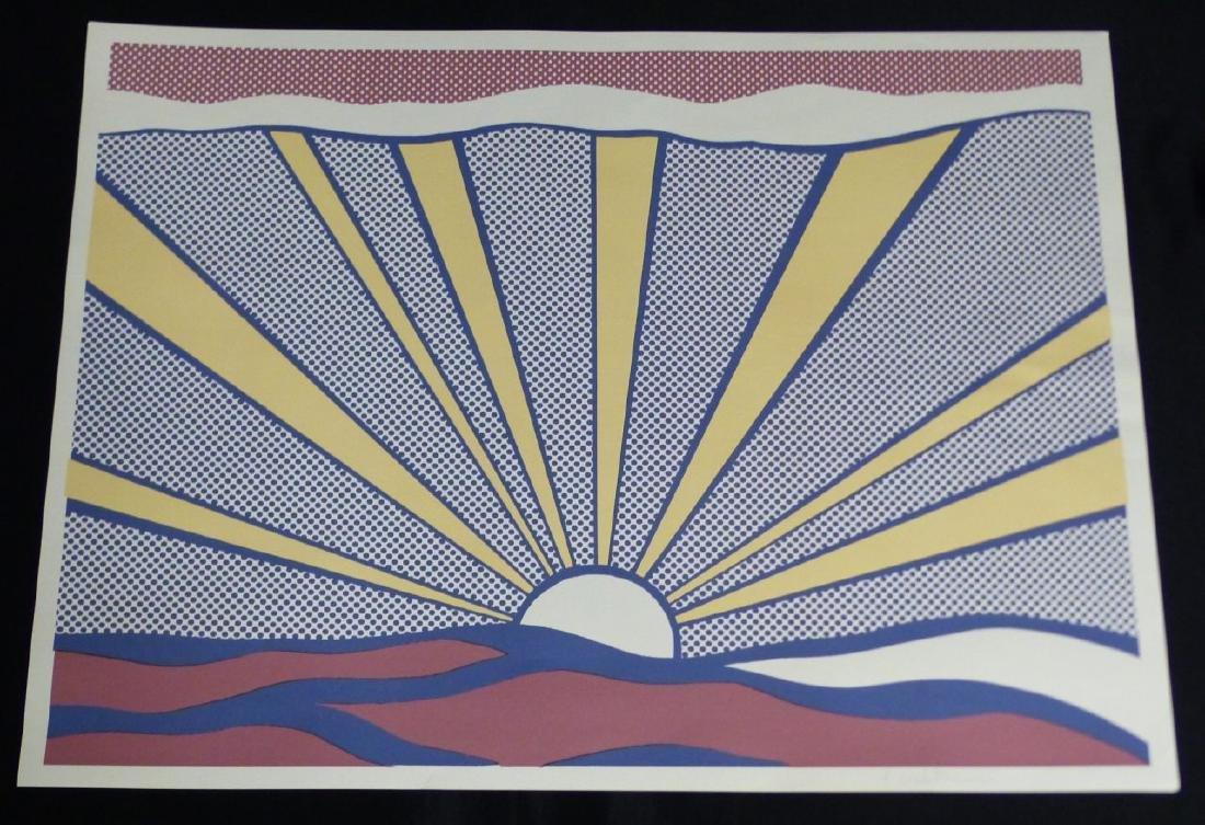 ROY LICHTENSTEIN SUNRISE OFFSET LITHOGRAPH SIGNED