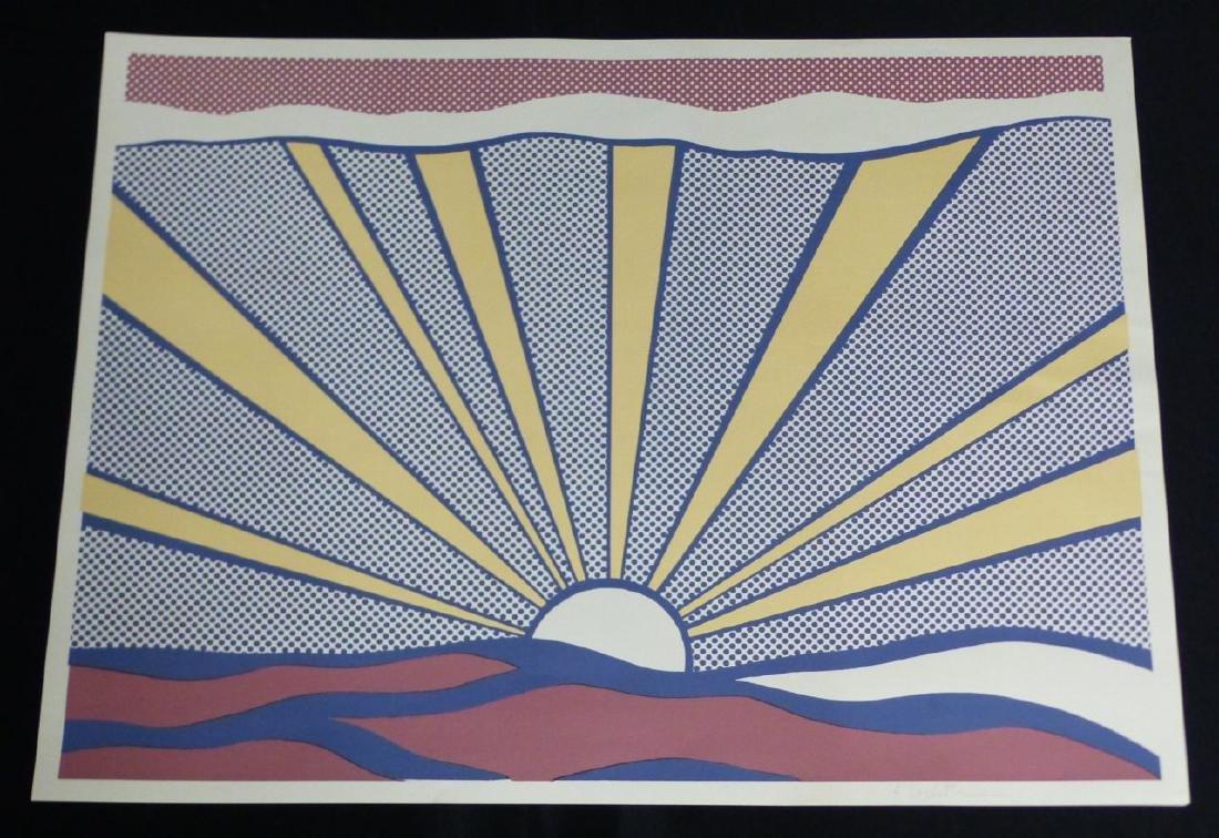 ROY LICHTENSTEIN SUNRISE OFFSET LITHOGRAPH SIGNED - 2