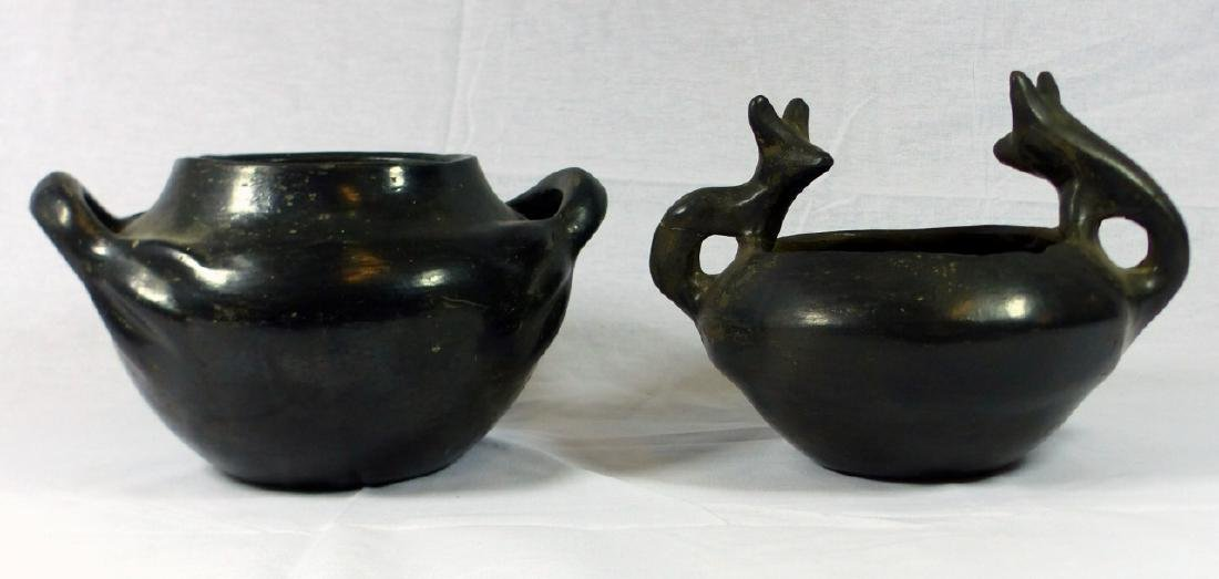 2pc NATIVE AMERICAN INDIAN OLLA POTTERY