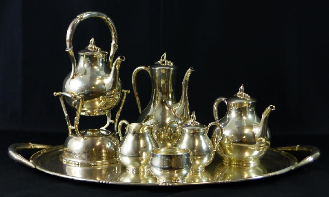 7pc TANGO ACEVES STERLING SILVER COFFEE & TEA SET