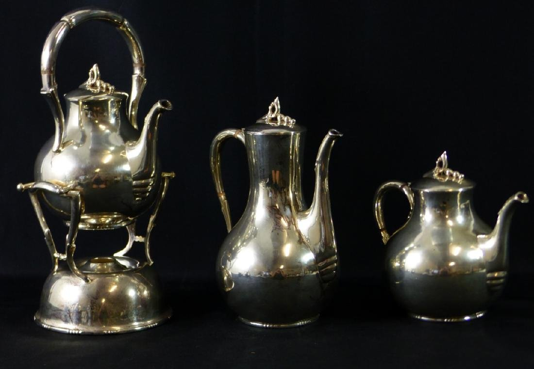 7pc TANGO ACEVES STERLING SILVER COFFEE & TEA SET - 2