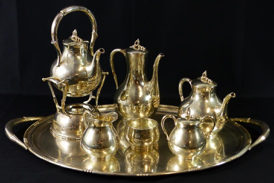 7pc TANGO ACEVES STERLING SILVER COFFEE & TEA SET - 6