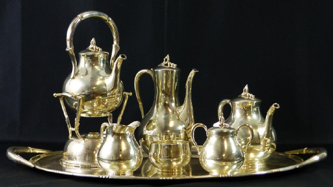 7pc TANGO ACEVES STERLING SILVER COFFEE & TEA SET - 7