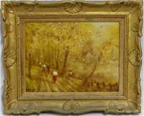 FRANCIS DARBY DAVIS OIL PAINTING ON CANVAS