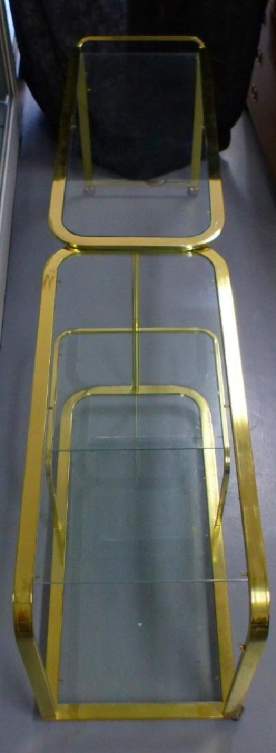 MILO BAUGHMAN FOR DIA BRASS & GLASS FOLDING CART - 4