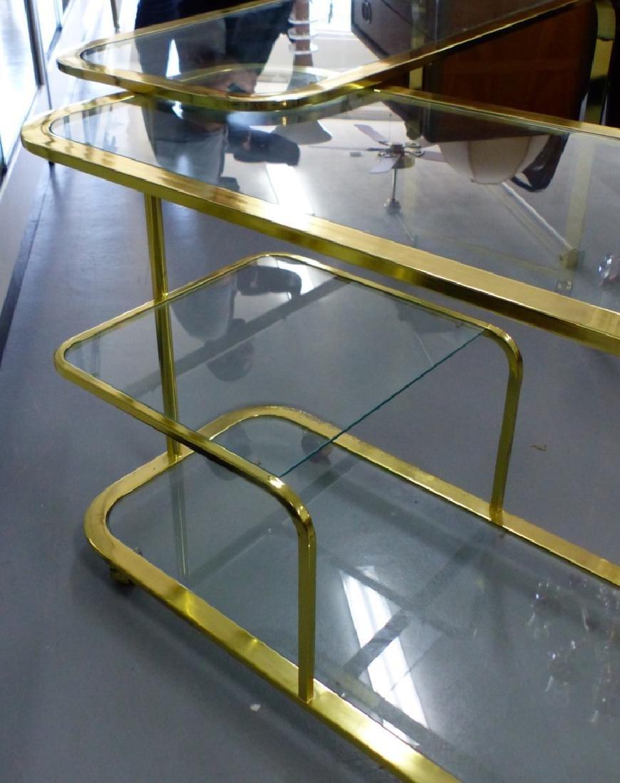 MILO BAUGHMAN FOR DIA BRASS & GLASS FOLDING CART - 7