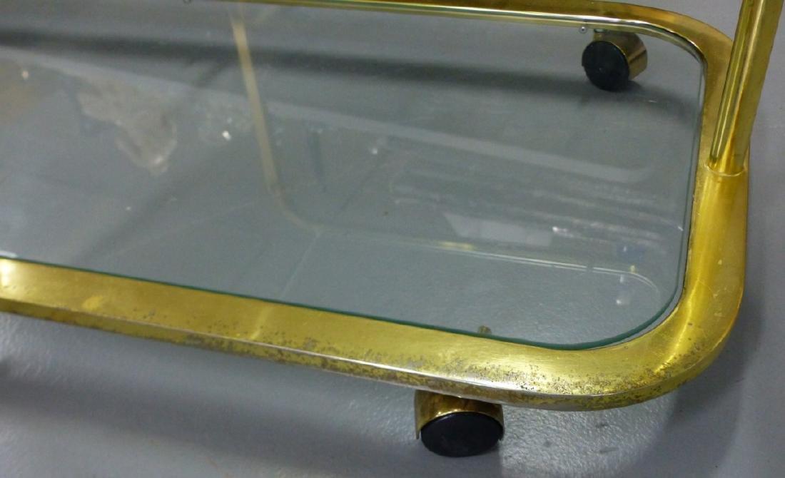 MILO BAUGHMAN FOR DIA BRASS & GLASS FOLDING CART - 8