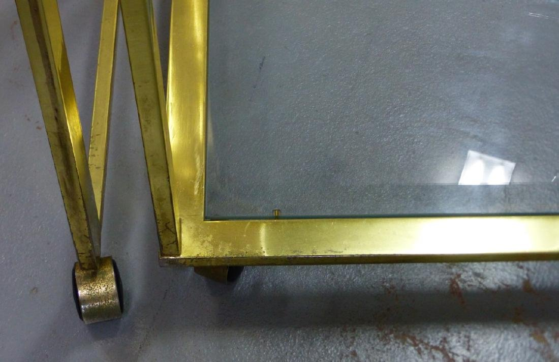MILO BAUGHMAN FOR DIA BRASS & GLASS FOLDING CART - 9
