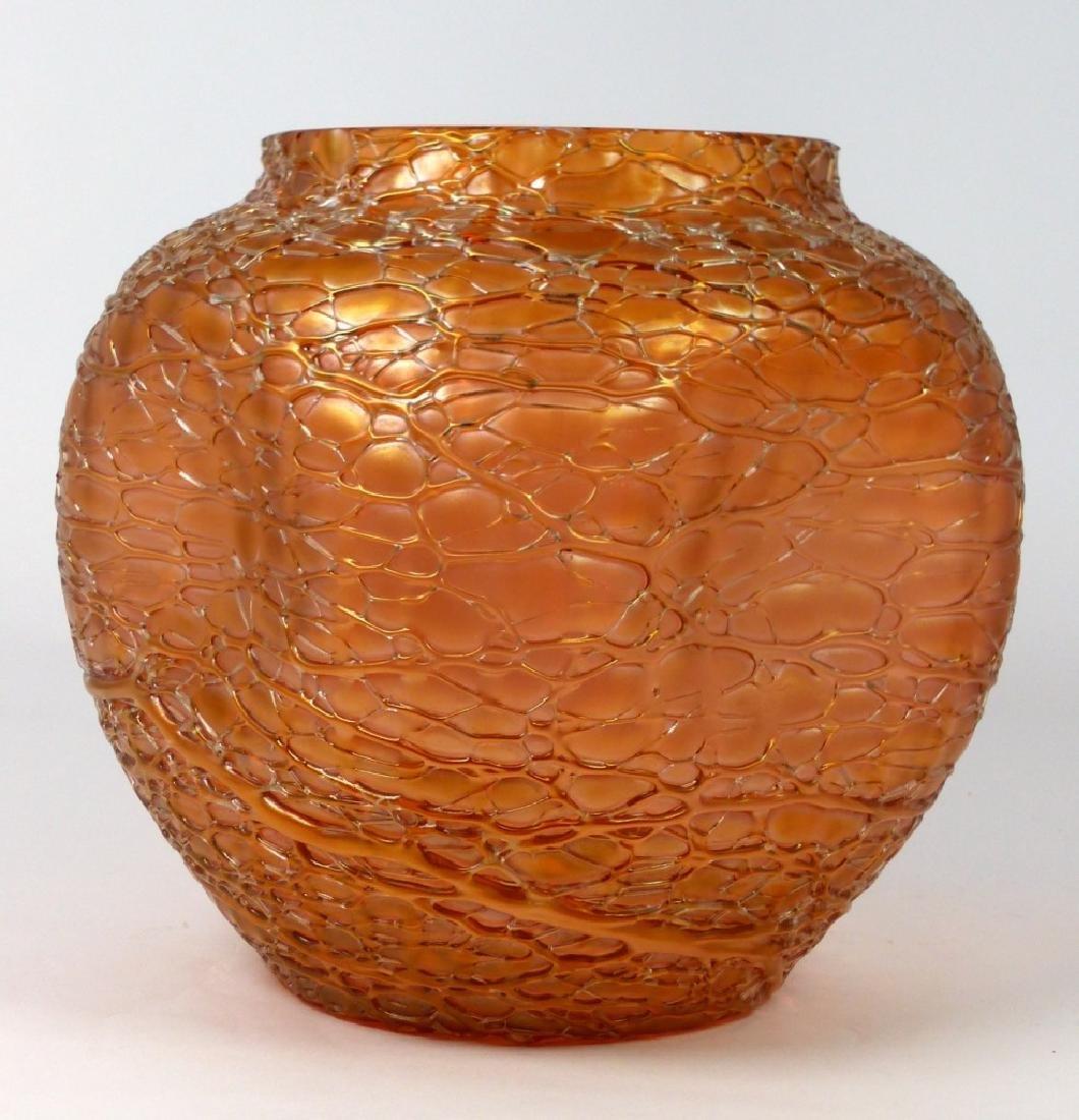 LOETZ CZECH CRACKLE ART GLASS VASE