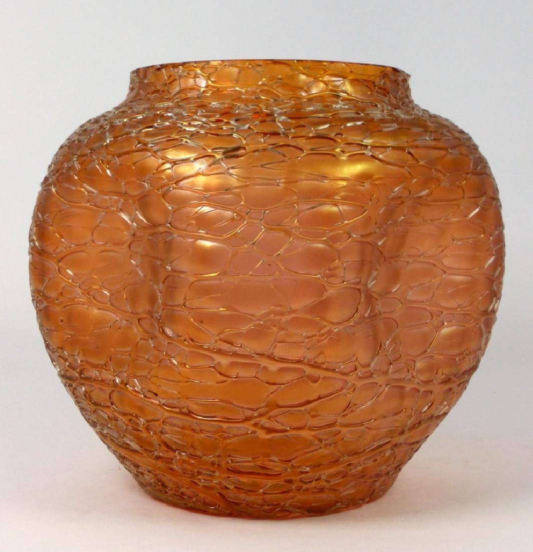 LOETZ CZECH CRACKLE ART GLASS VASE - 3