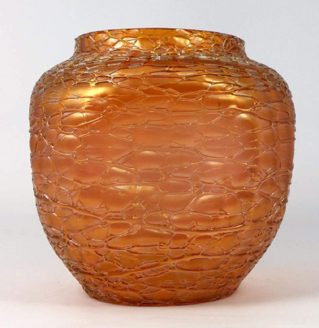 LOETZ CZECH CRACKLE ART GLASS VASE - 4