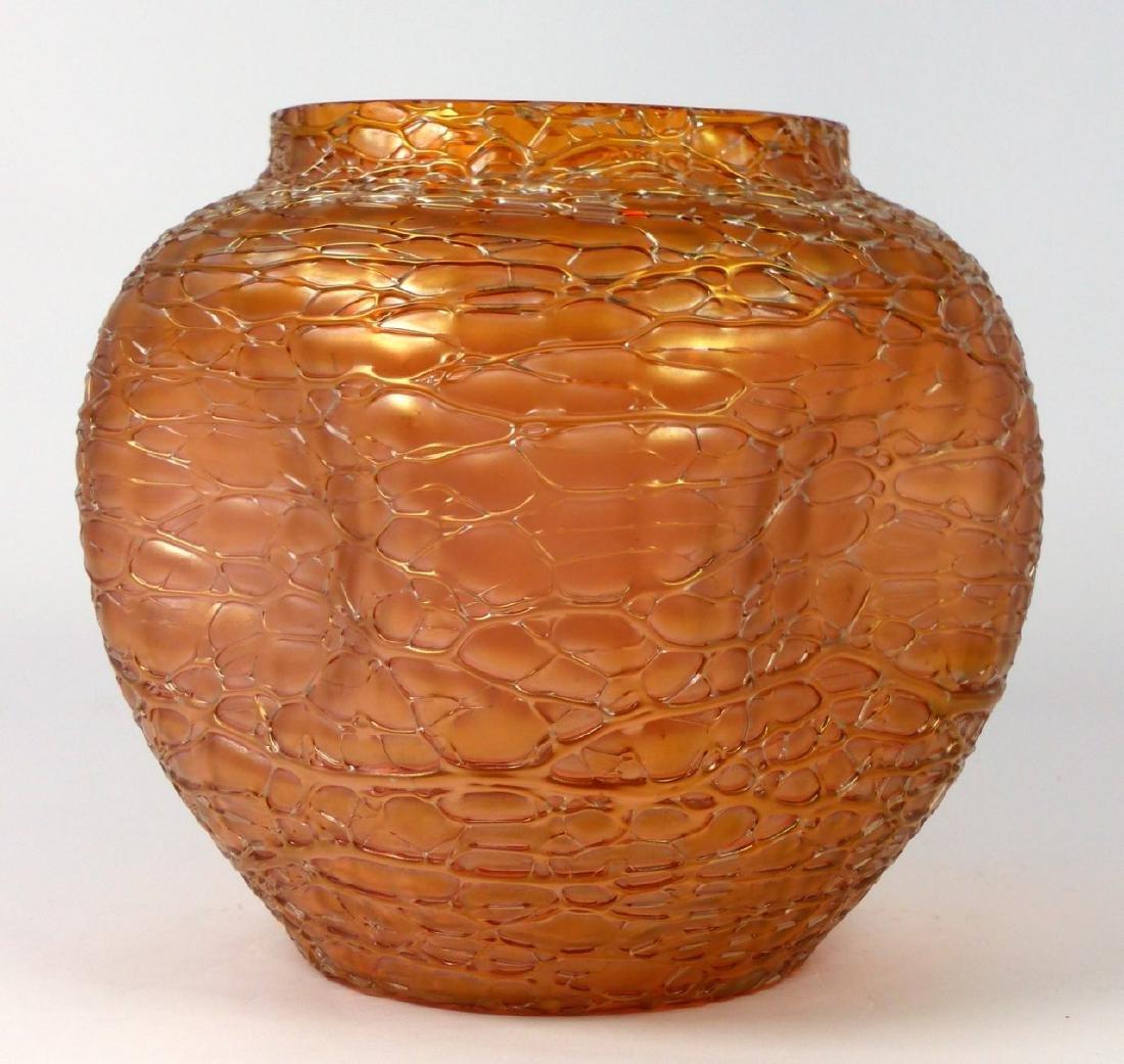 LOETZ CZECH CRACKLE ART GLASS VASE - 5