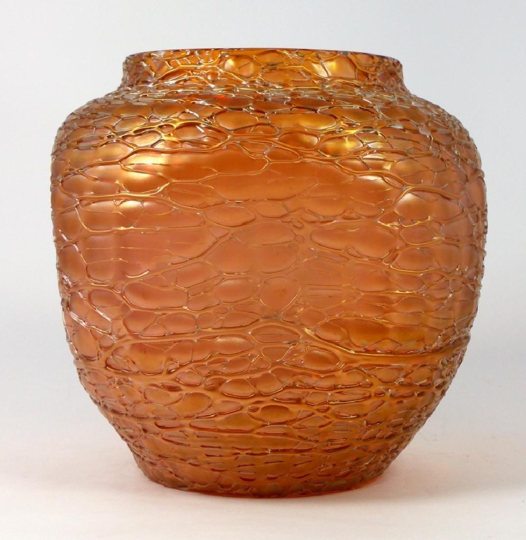 LOETZ CZECH CRACKLE ART GLASS VASE - 6