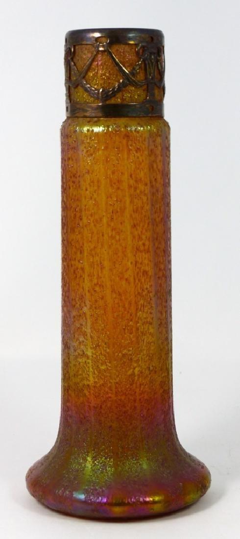 LOETZ CZECH IRIDESCENT ART GLASS VASE w MOUNT - 5