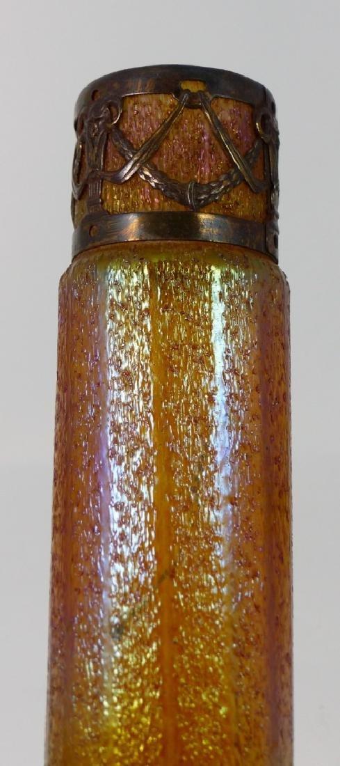 LOETZ CZECH IRIDESCENT ART GLASS VASE w MOUNT - 7