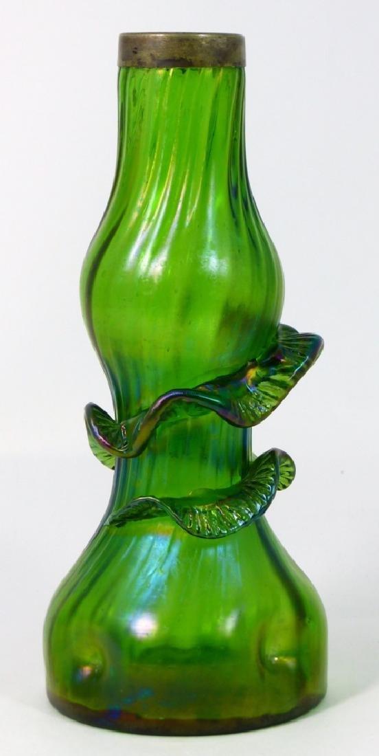 LOETZ CZECH ART GLASS VASE w RIBBON DESIGN