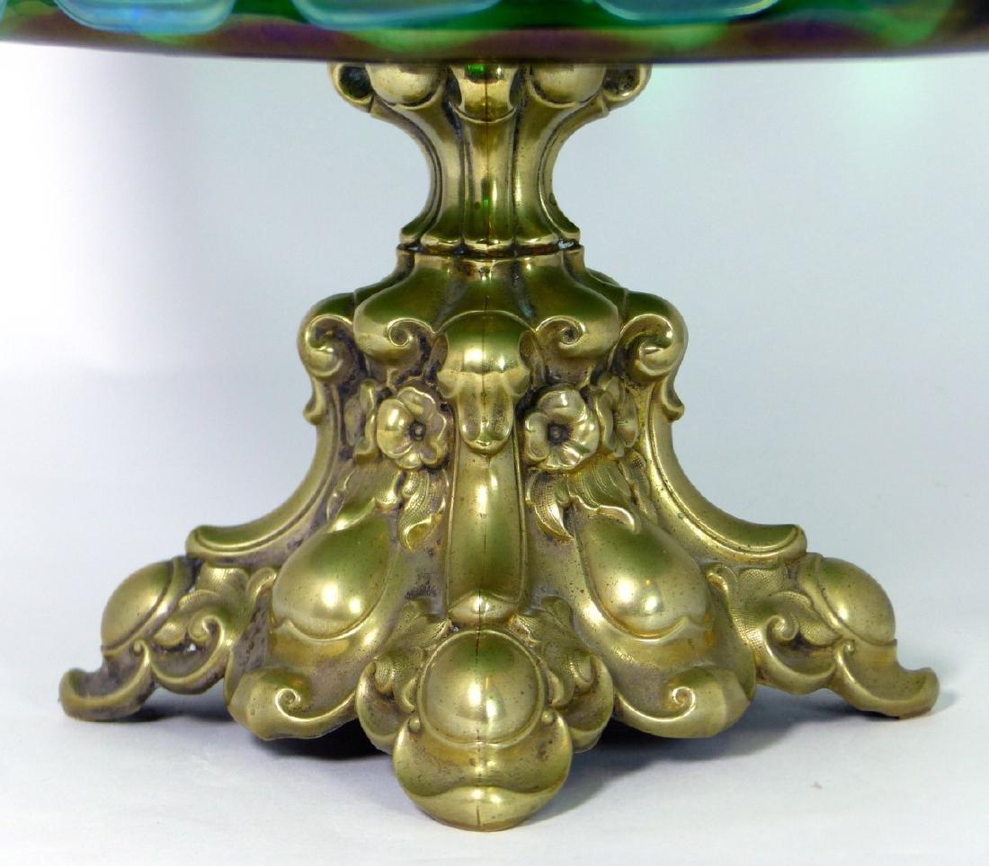 LOETZ CZECH ART GLASS COMPOTE w ORMOLU MOUNT - 3