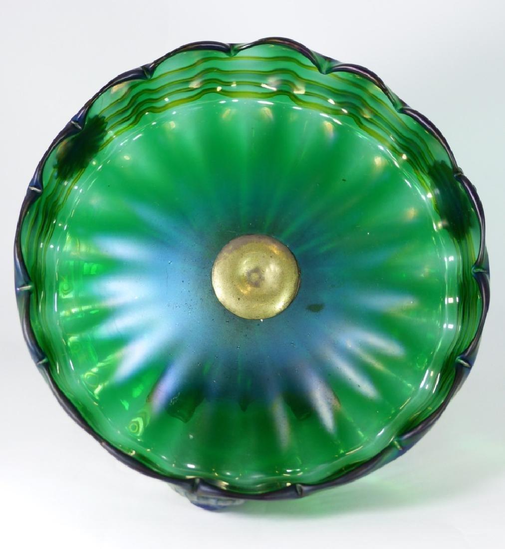 LOETZ CZECH ART GLASS COMPOTE w ORMOLU MOUNT - 8