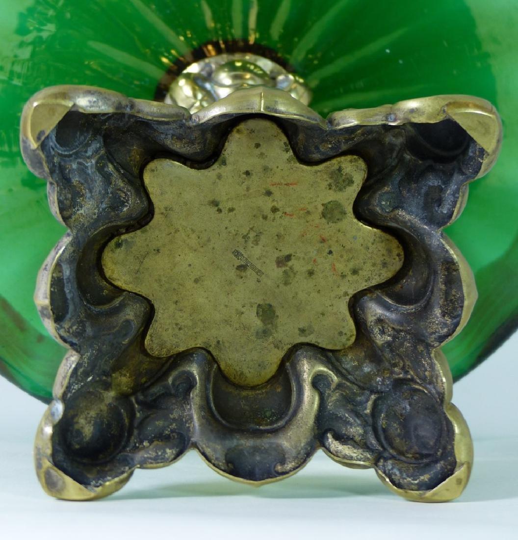 LOETZ CZECH ART GLASS COMPOTE w ORMOLU MOUNT - 9
