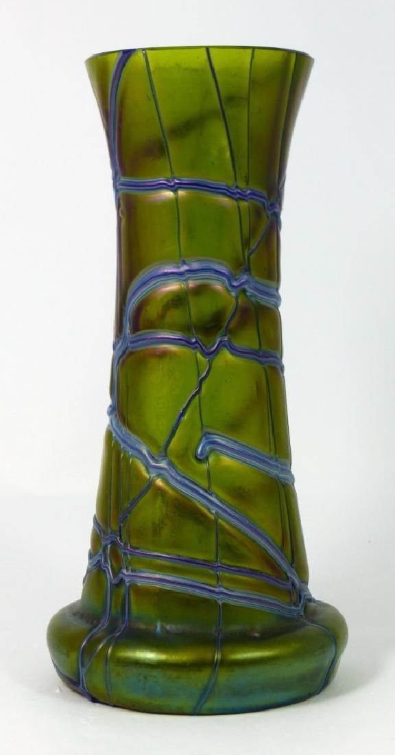 LOETZ CZECH IRIDESCENT THREADED GLASS VASE