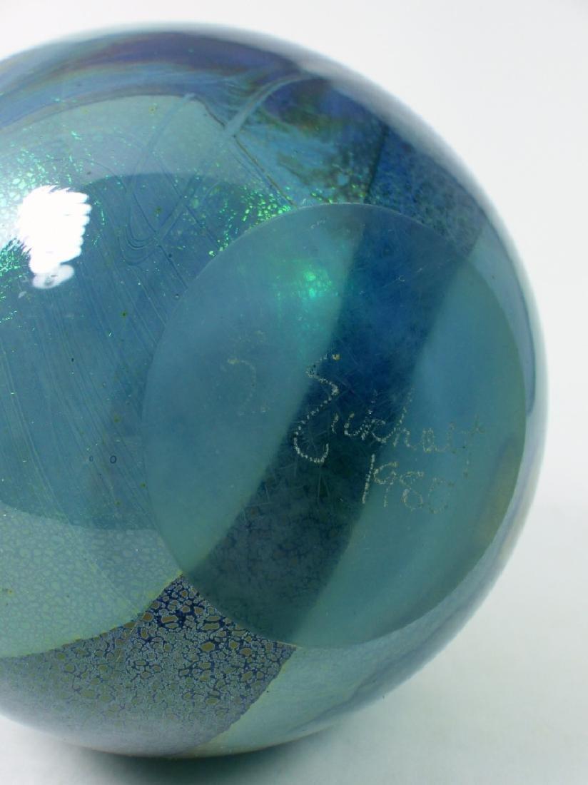 ROBERT EICKHOLT IRIDESCENT STUDIO ART GLASS VASE - 7