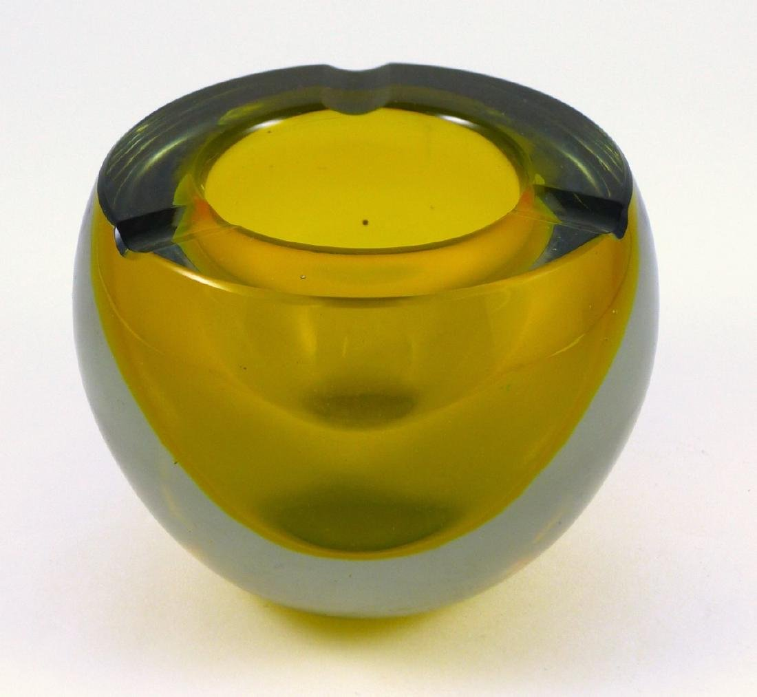 MURANO SOMMERSO ART GLASS ASHTRAY